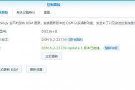 DSM群晖6.2-23739-1,update1正式发布