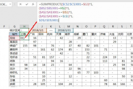 SUMPRODUCT函数写日期的三种方法