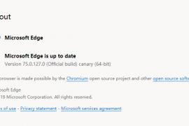微软Chromium Edge官方安装包加汉化包(持续更新,已更新至75.0.127.0)