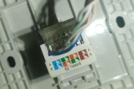 雷士网线插座T568A/B采用T568B接线方法