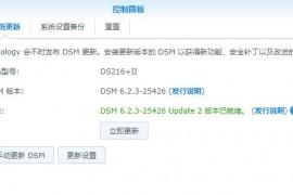 DSM群晖6.2.3-25426 Update 2正式发布(2020/07/16已更新)