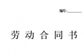 劳动合同书2020年度范本,黔南人社局官方参考版本