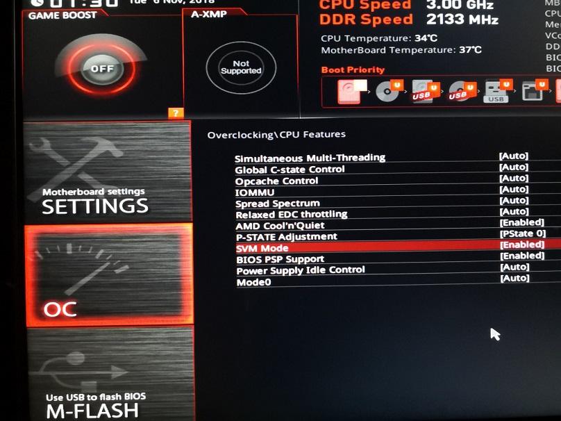 微星X370 X470 B450主板如何开启虚拟化SVM Mode