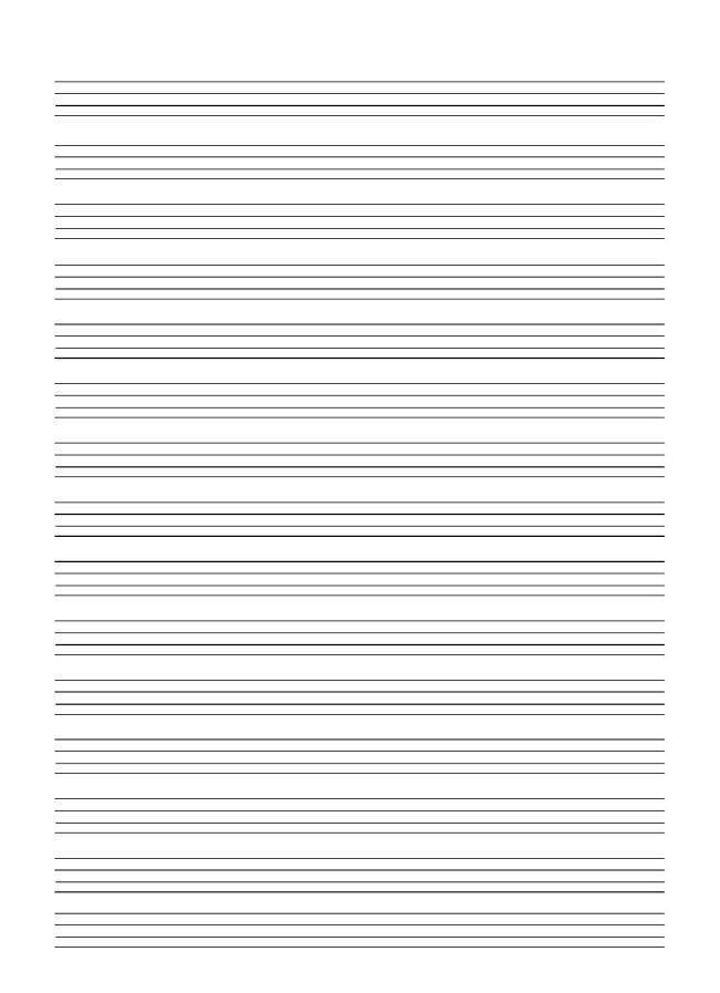 四线三格英语本空白纸模板