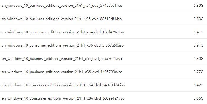 【MSDN】Windows 10 21H1消费者版、商业版19043.928简体中文、英文版2021年5月官方镜像资源